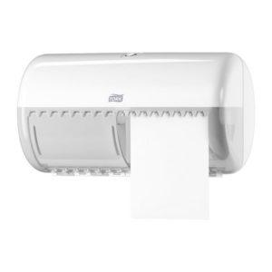 Dispenser TORK Twin toalettpapir T4 hvi