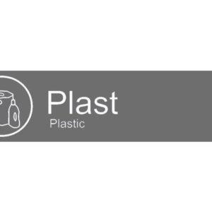 """Etikett RØROS """"Plast"""""""