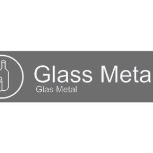"Etikett RØROS ""Glass Metall"""