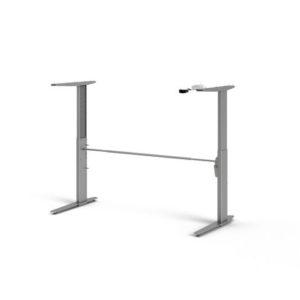 Skrivebordsben PRIMA hev/senk sølvgrå