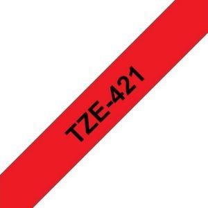 Tape BROTHER TZe-421 9mmx8m sort/rød
