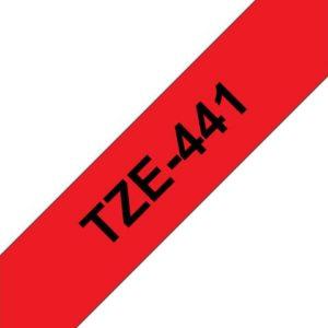 Tape BROTHER TZe-441 18mmx8m sort/rød