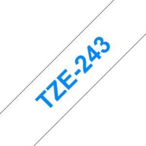 Tape BROTHER TZe-243 18mmx8m blå/hvit