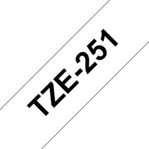 Tape BROTHER TZe-251 24mmx8m sort/hvit