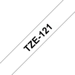 Tape BROTHER TZe-121 9mmx8m sort/klar