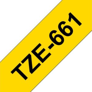 Tape BROTHER TZe-661 36mmx8m sort/gul