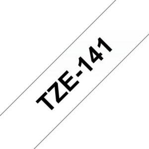 Tape BROTHER TZe-141 18mmx8m sort/klar