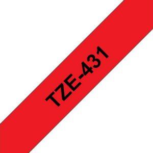Tape BROTHER TZe-431 12mmx8m sort/rød