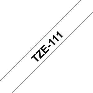 Tape BROTHER TZE-111 6mmx8m sort/klar