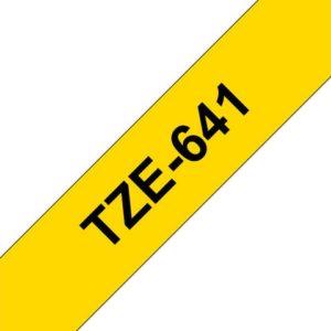 Tape BROTHER TZe-641 18mmx8m sort/gul