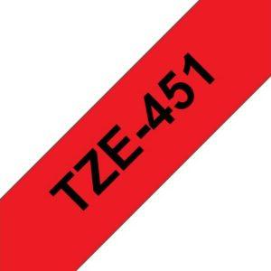 Tape BROTHER TZe-451 24mmx8m sort/rød