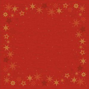 Duk DUNICEL 84x84cm Star rød (20)