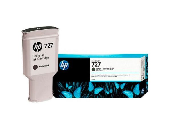 Blekk HP 727 C1Q12A matt sort