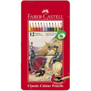 Fargeblyant FABER-CASTELL metalletui(12