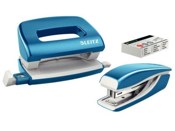 Hull/stift sett LEITZ mini Wow blå (2)