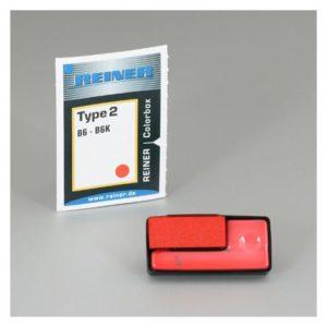 Stempelpute REINER f/nummeratør rød