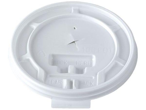 Lokk til termobeger DUNI 31cl hvit (100