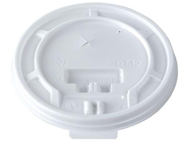 Lokk til termobeger DUNI 35cl hvit (100
