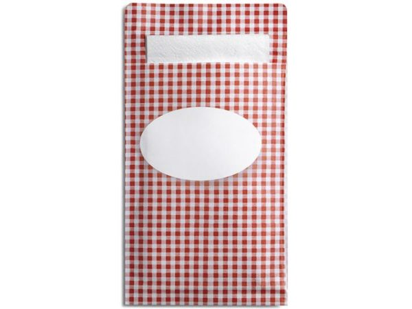 Sandwichpose DUNI Sacchetto S rød (250)