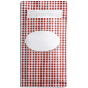 Sandwichpose DUNI Sacchetto M rød (250)
