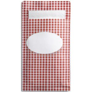 Sandwichpose DUNI Sacchetto L rød (250)
