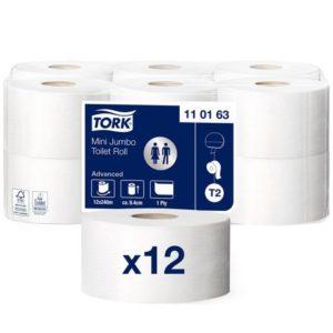 Toalettpapir TORK Advance 1L T2 240m(12