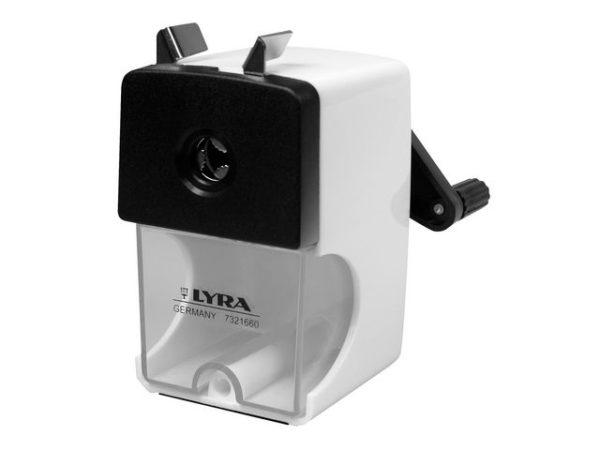 Blyantspisser LYRA bordmodell sort/hvit