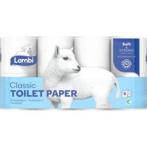 Toalettpapir LAMBI 3L hvit (8)