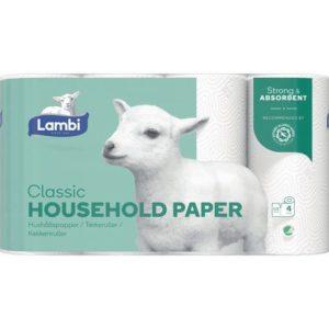 Kjøkkenrull LAMBI 3L hvit (4)