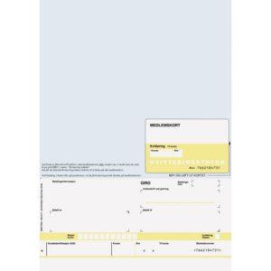 Giro med medlemskort A4 laser 1x (125)