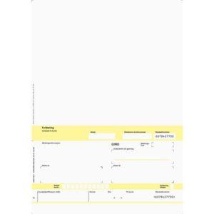 Faktura/giro A4 laser 1x hvit (500)