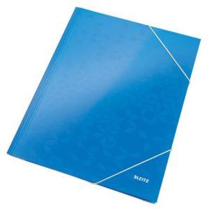 Strikkmappe LEITZ Wow A4 kartong blå