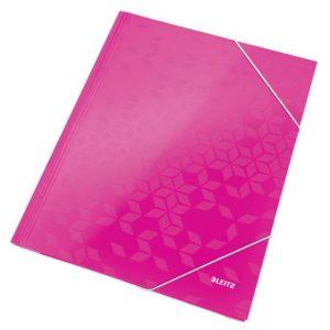 Strikkmappe LEITZ Wow A4 kartong rosa