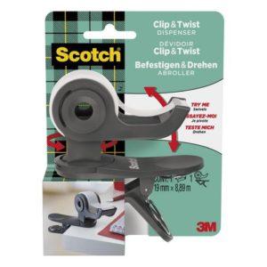Tapedispenser SCOTCH Twist 1rl tape grå