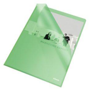 Plastomslag ESSELTE A4 105my grønn (100