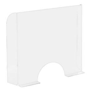Plexiglass stående b:68x95cm m/rund luk
