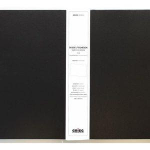 Skissebok GRIEG A3 liggende sort