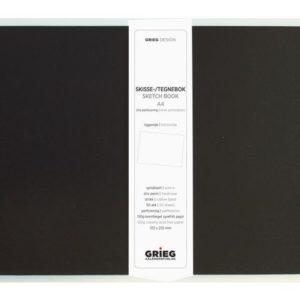 Skissebok GRIEG A4 liggende sort