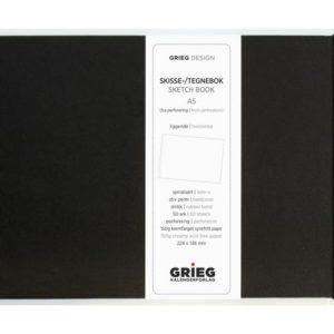 Skissebok GRIEG A5 liggende sort