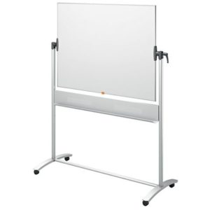 Whiteboard NOBO Vendbar lakkert 90x120c