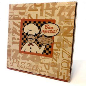 Pizzaeske 41x41x4cm brun/hvit