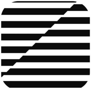 Koppebrikke DUNILIN 8L black&white (250