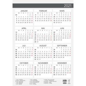 Plakatkalender GRIEG Elegant A3 2021