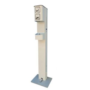 Dispenser håndsprit m/fotpumpe 1L