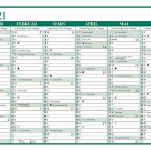 Platekalender GRIEG A4 enkel 2021