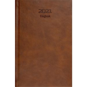 Dagbok GRIEG Lux A5 2021 cognac