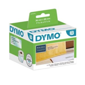 Etikett DYMO adresse 89x36mm klar (260)