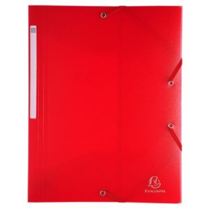Strikkmappe EXACOMPTA A4 Jewel PP rød