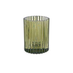 Lysholder DUNI Glass 70x55mm grønn