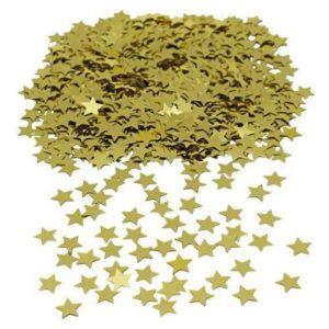 Konfetti JOKER stjerner gull